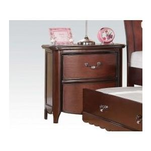 Cecilie Cherry/ Light Pink PU Nightstand