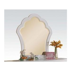 CECILIE WHITE/ LIGHT PINK PU MIRROR