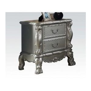 Dresden Silver Finish Nightstand
