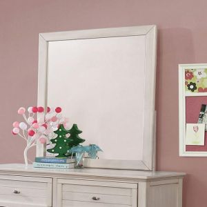 Brogan Antique White Mirror
