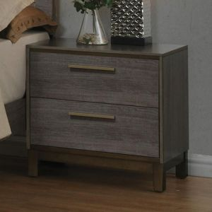 Manvel Two Tone Antique Gray Nighstand
