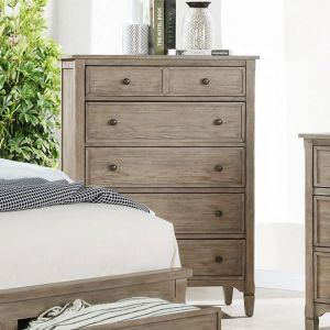 Anneke Wire Brushed Warm Gray Chest