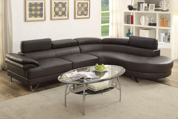 Swell Poundex 2 Pcs Sectional Sofa F6969 Inzonedesignstudio Interior Chair Design Inzonedesignstudiocom