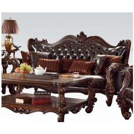 VERSAILLES DARK BROWN PU SOFA