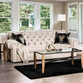 Parshall Beige Gold Sofa